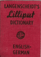 Langenschneidt´s Lilliput Dictionary. English - German VČT.ORIG.OCHR.KATONU
