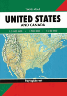 United States and Canada. Travel Atlas 1:3000000
