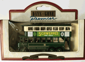 Trolejbus Trolley Bus E6 1928 Schweppes Lime Juice. Model 1:87 H0