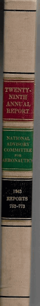 Twenty-Ninth Annual Report of the National Advisory Committee for Aeronautics 1943